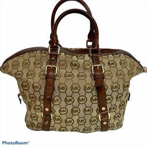 Michael Michael Kors canvas/leather crossbody bag